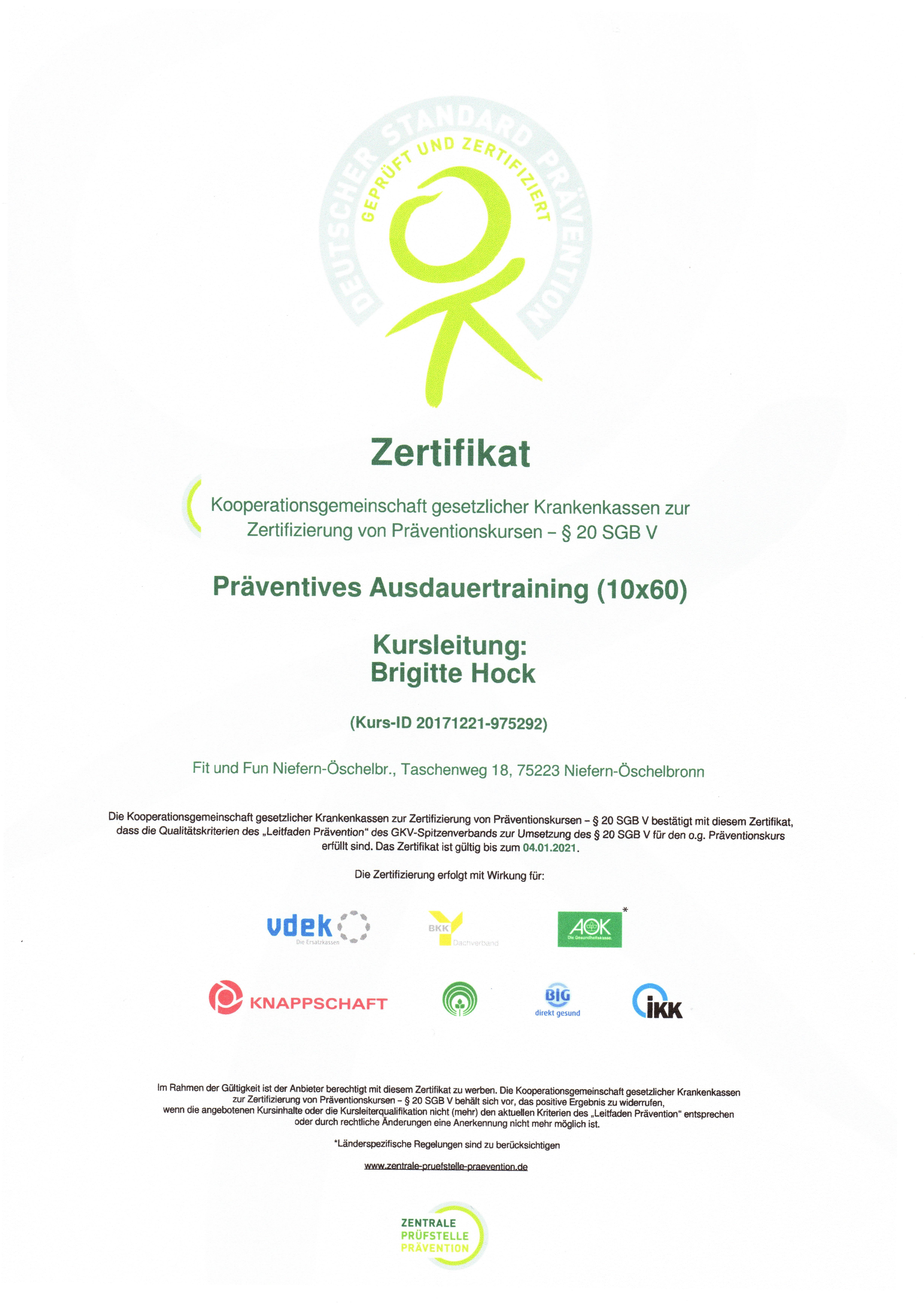 Zertifikat Brigitte